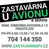 Logo 2) Zastavárna A Servis U Avionu Prostějov