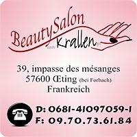 Logo 2) Beautysalon Krallen